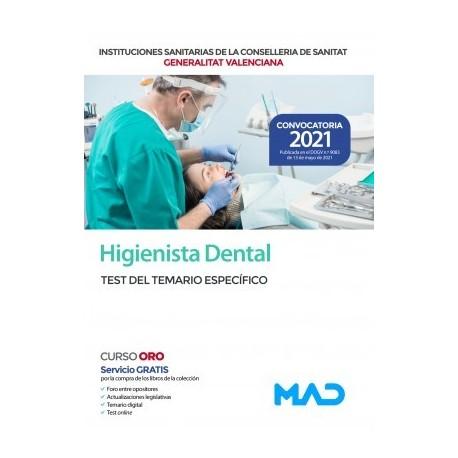 HIGIENISTA DENTAL DE LAS INSTITUCIONES SANITARIAS CONSELLERIA SANITAT COMUNIDAD VALENCIANA. TEST DEL TEMARIO ESPECIFICO