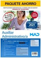 PAQUETE AHORRO AUXILIAR ADMINISTRATIVO DE INSTITUCIONES SANITARIAS DE LA CONSELLERIA DE SANITAT DE LA GENERALITAT VALENCIANA