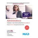 ADMINISTRATIVO/A INSTITUCIONES SANITARIAS CONSELLERIA SANITAT COMUNIDAD VALENCIANA. TEMARIO Y TEST PARTE ESPECIFICA VOLUMEN 2