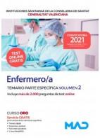 ENFERMERO/A INSTITUCIONES SANITARIAS CONSELLERIA SANITAT COMUNIDAD VALENCIANA. TEMARIO PARTE ESPECIFICA VOLUMEN 2
