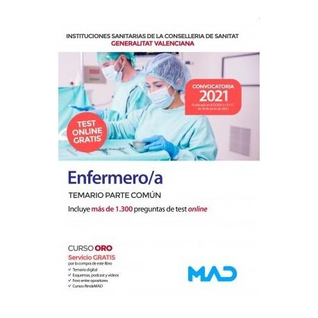 ENFERMERO/A INSTITUCIONES SANITARIAS CONSELLERIA SANITAT COMUNIDAD VALENCIANA. TEMARIO PARTE COMUN
