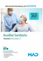 AUXILIAR SANITARIO DIPUTACION DE ALICANTE. TEMARIO VOLUMEN 2