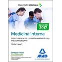MEDICINA INTERNA. TEST COMENTADOS DE MATERIAS ESPECIFICAS PARA OPOSICIONES. VOLUMEN 1