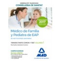 MEDICO DE FAMILIA Y PEDIATRA DE EAP INSTITUCIONES SANITARIAS CONSELLERIA SANITAT COMUNIDAD VALENCIANA. TEMARIO PARTE COMUN Y TEST. VOLUMEN 1 NORMATIVA SANITARIA
