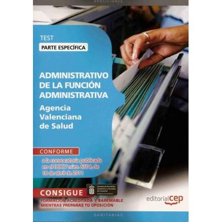ADMINISTRATIVO DE LA FUNCION ADMINISTRATIVA A.V.S. TEST ESPECIFICO