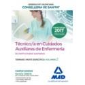 TECNICO/A EN CUIDADOS AUXILIARES DE ENFERMERIA INSTITUCIONES SANITARIAS CONSELLERIA SANITAT COMUNIDAD VALENCIANA. TEMARIO PARTE ESPECIFICA. VOLUMEN 2