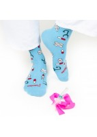 CALCETINES ESTAMPADOS HEALTHY TOOLS COLOR CELESTE